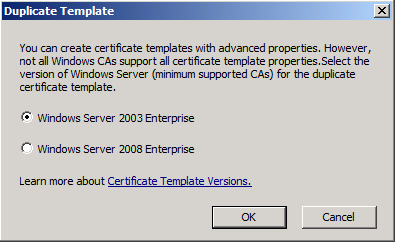 Certificate template versions sha2 cng or csp and their if you selected the windows server 2003 enterprise option the template was bound to be csp crypto provider template version 2 yadclub Gallery