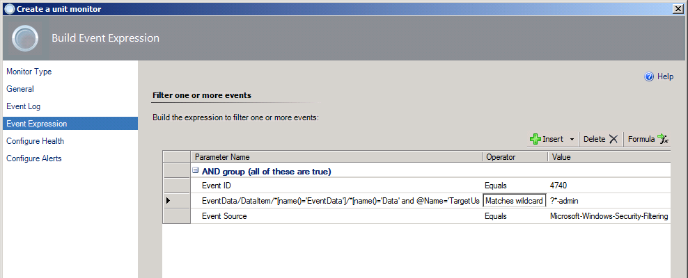 How to query for the Windows event XML data values in SCOM